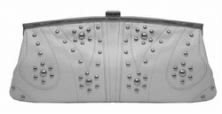 Solas Harmony Clutch - Studded White
