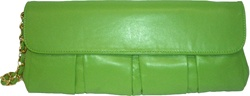 Solas Darling Clutch - Green lambskin