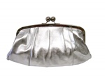 Solas Eleanor Clutch - Silver