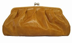 Solas Large Eleanor Clutch - Cognac